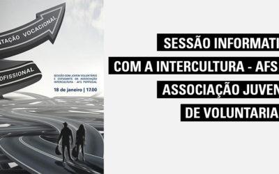 Sessão Informativa com a Intercultura – AFS Portugal – Associação Juvenil de Voluntariado
