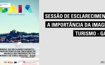 Sessão de Esclarecimento – A Importância da imagem de marca na promoção do turismo de uma região – GAIA