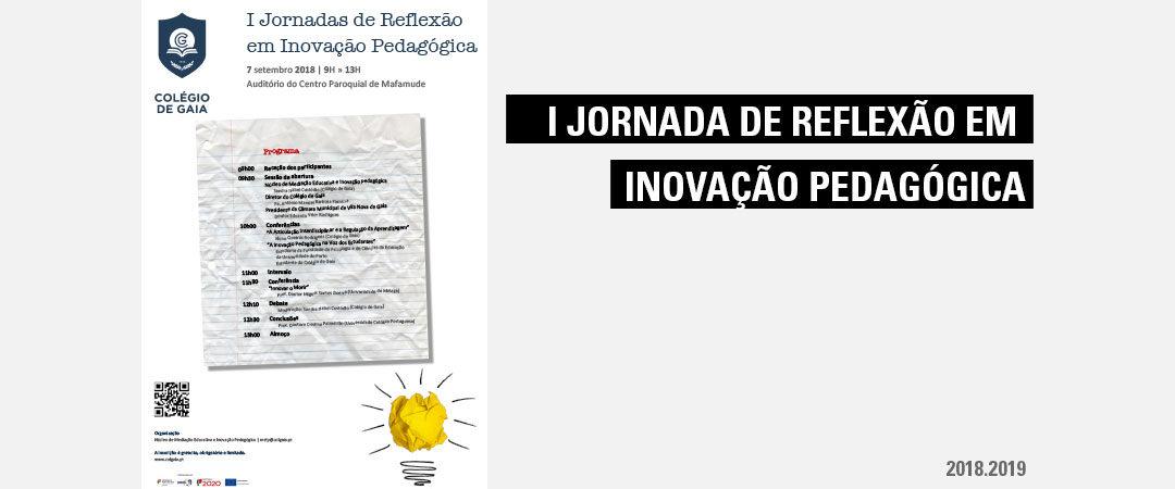 Participação na I Jornada de Reflexão em Inovação Pedagógica