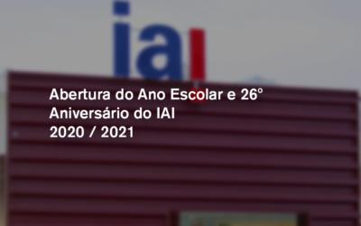 Abertura do Ano Escolar e 26º Aniversário do IAI
